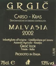 malvasia grgic